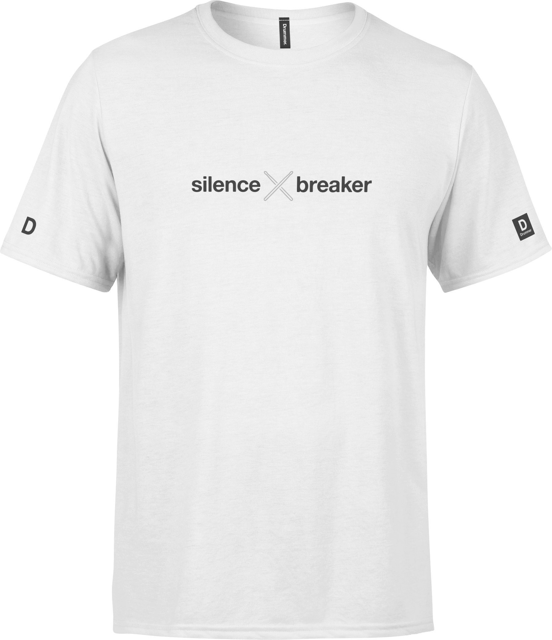 Drummer T-Shirt Image Front White