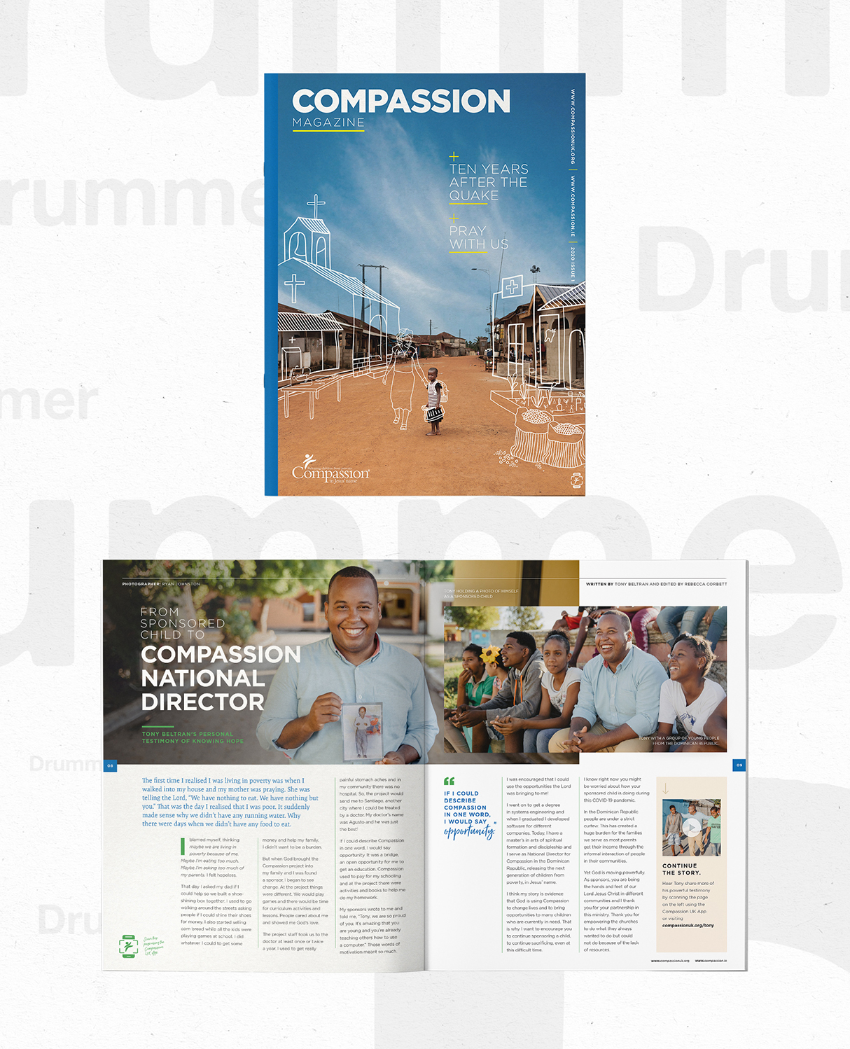 Compassion Magazine Creative