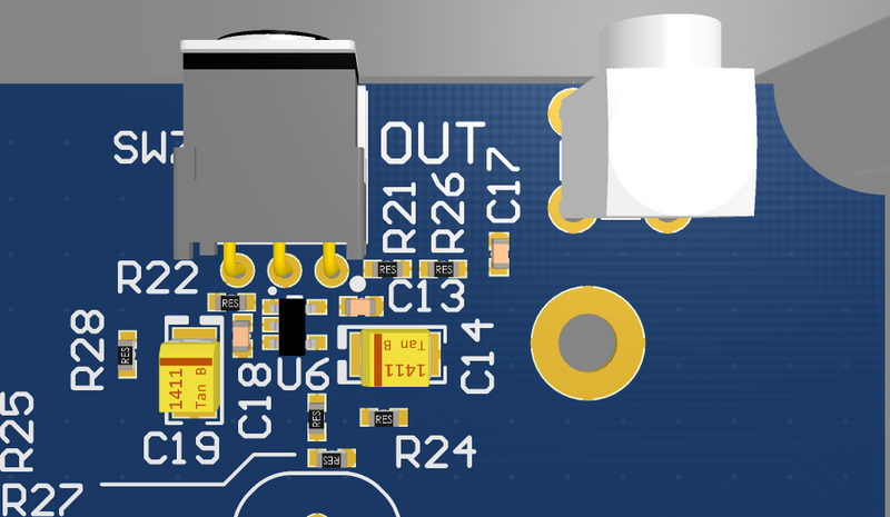 A full 3D model of the board is available to examine on the CircuitBuilder platform