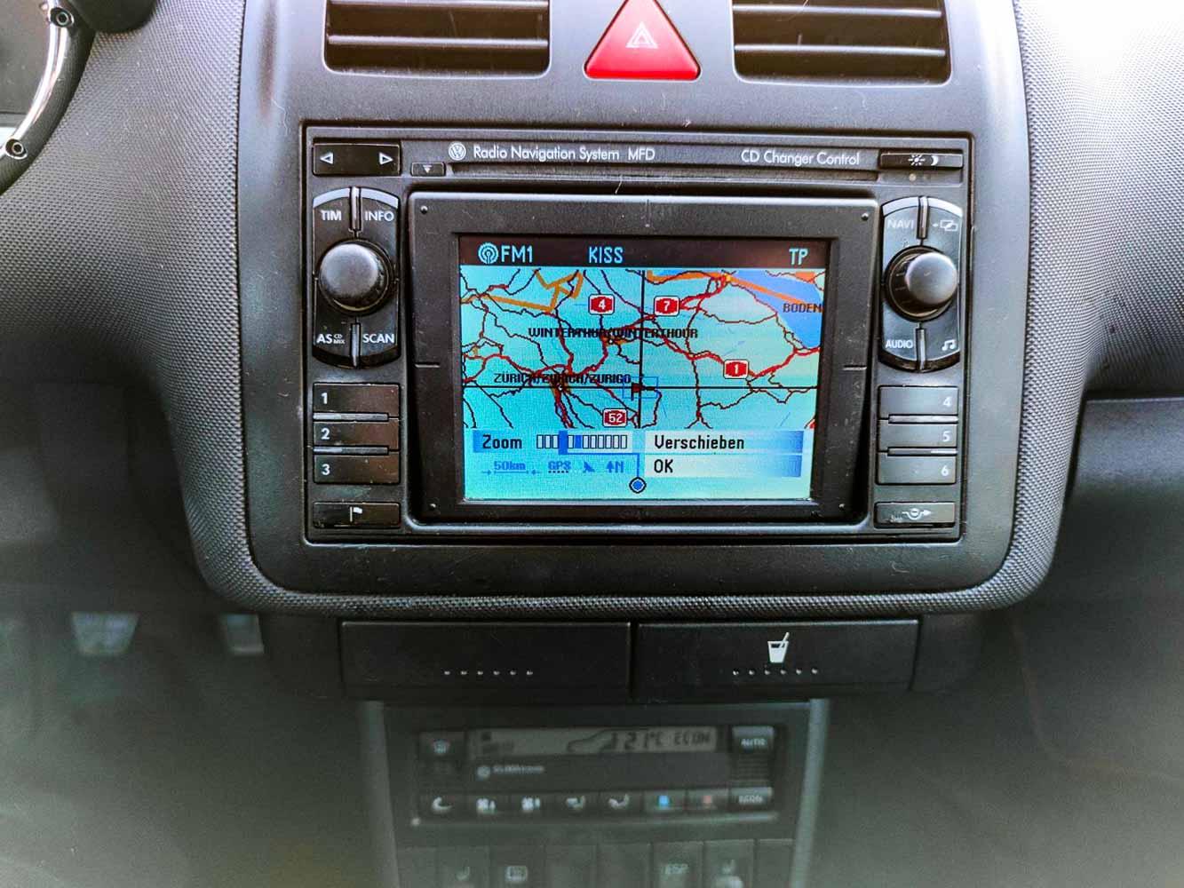 VW Polo GTi 1.6 16v navigace