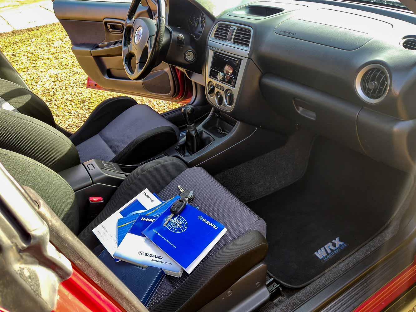 Subaru Impreza servisní knížka
