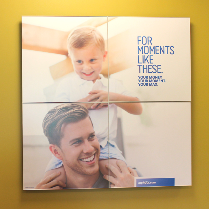 Max Credit Union retail signage — For Moments Like These