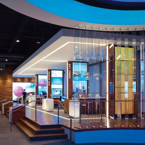 AT&T Michigan Avenue digital wall experience zone