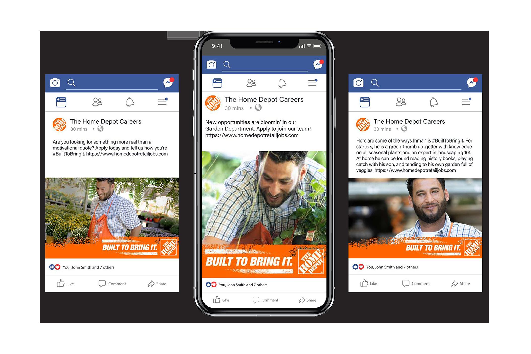 Home Depot — Built To Bring It social media story