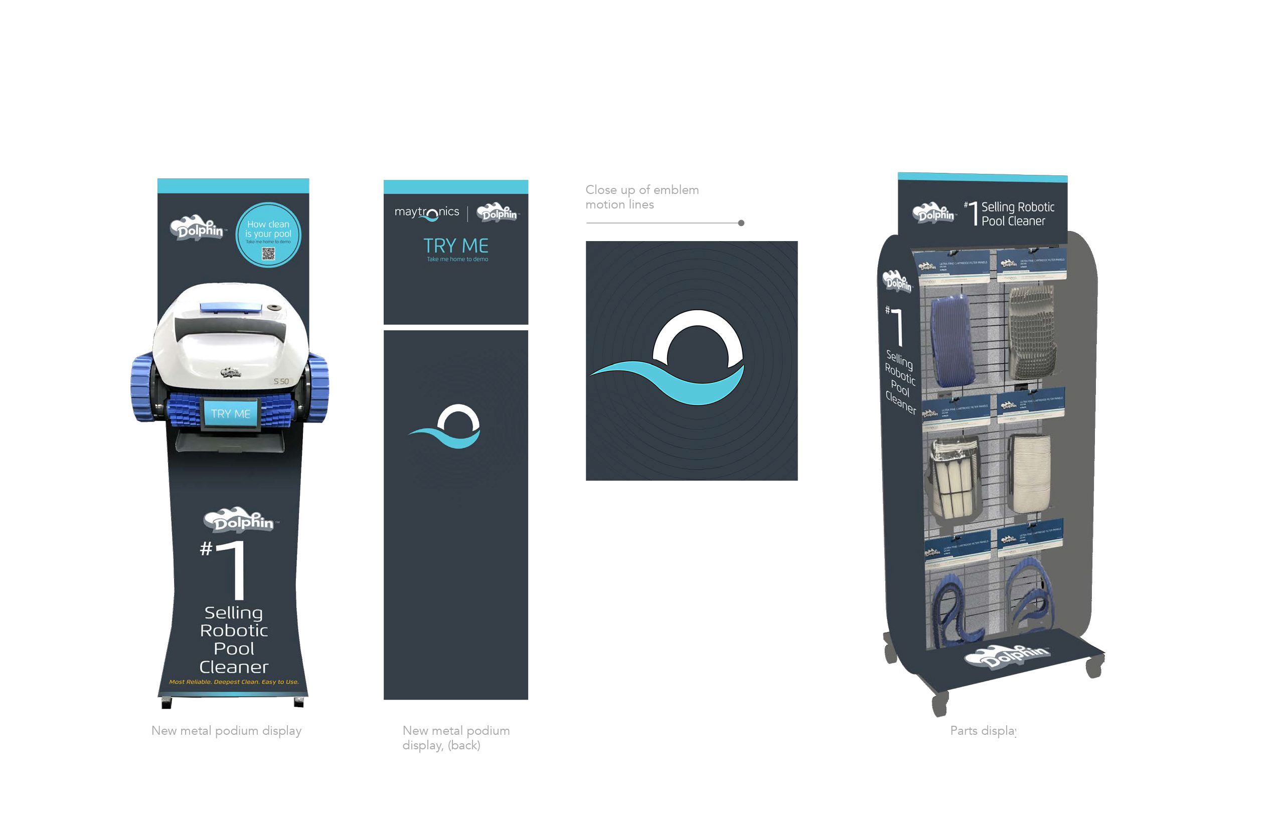 Maytronics – Dealer retail and accessory display options
