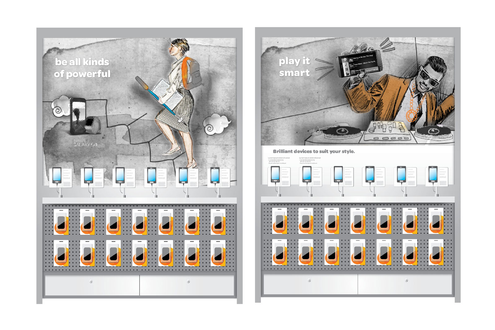 AT&T Retail Experience - Product display concept