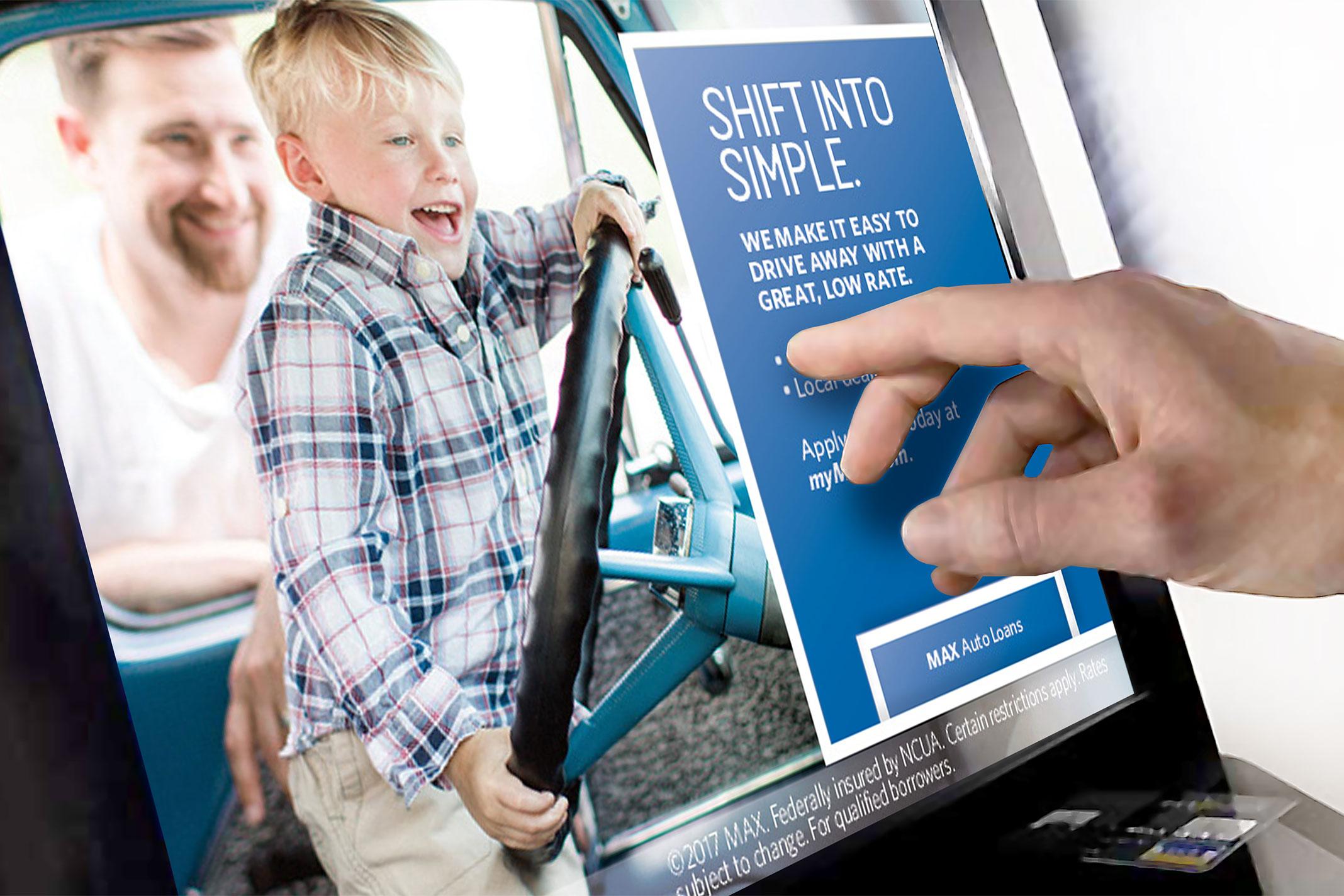 Max Credit Union ATM screen – Shift Into Simple.
