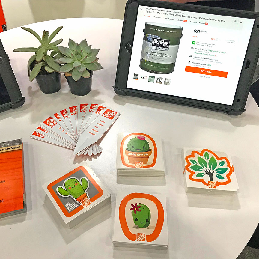 Home Depot — We Build Doers trade show swag Grace Hopper conference