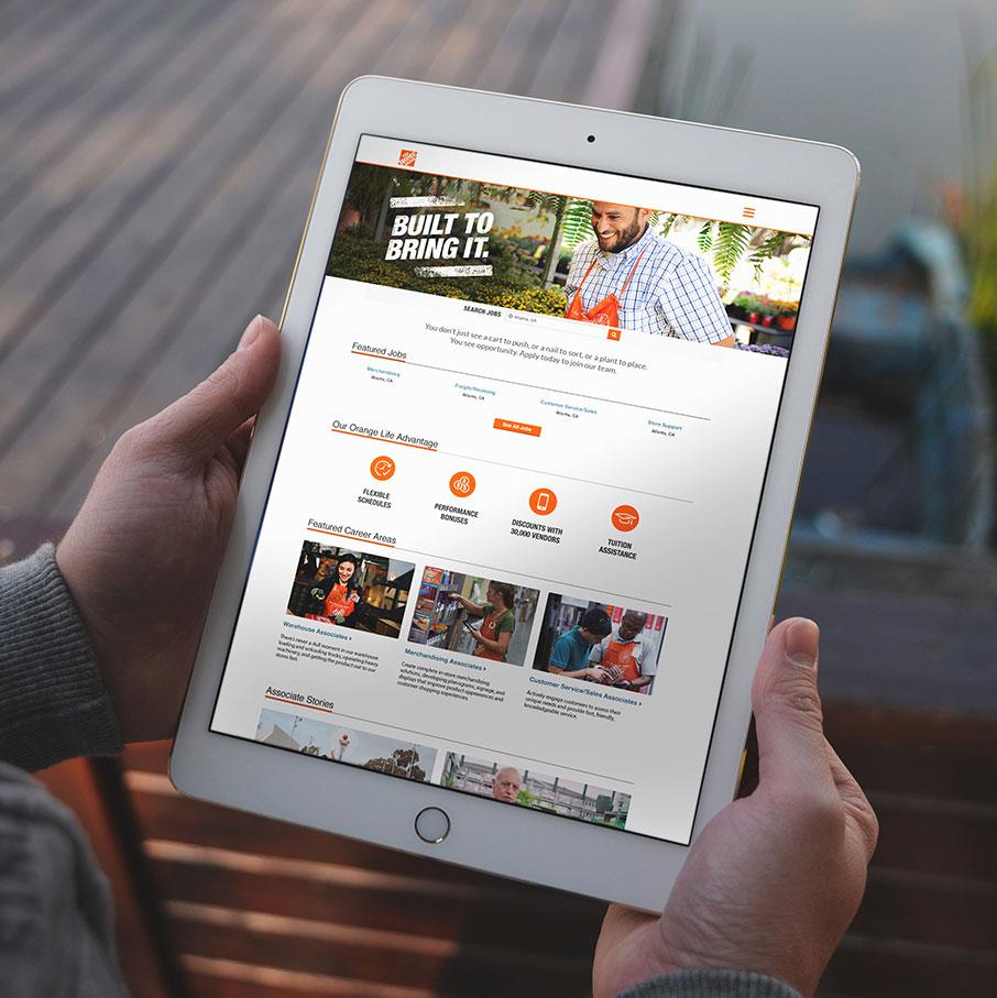 Home Depot — Built To Bring It applicant portal