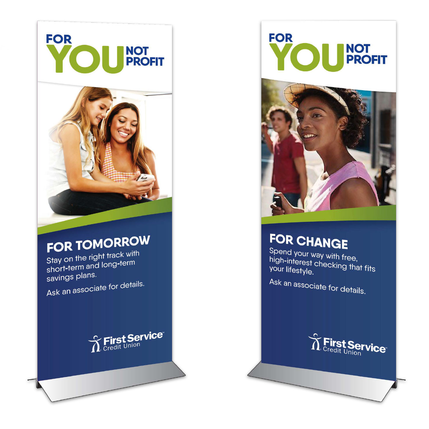 First Service Credit Union – In-store promotional standee