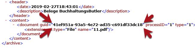 DATEV document.xml