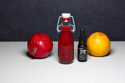 Winter Morgen Shot mit Vitamin D grapefruit Abwehrkräfte