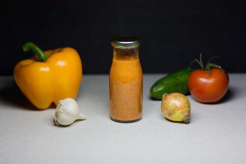 Gazpacho Suppe als Shot für zwischendurch