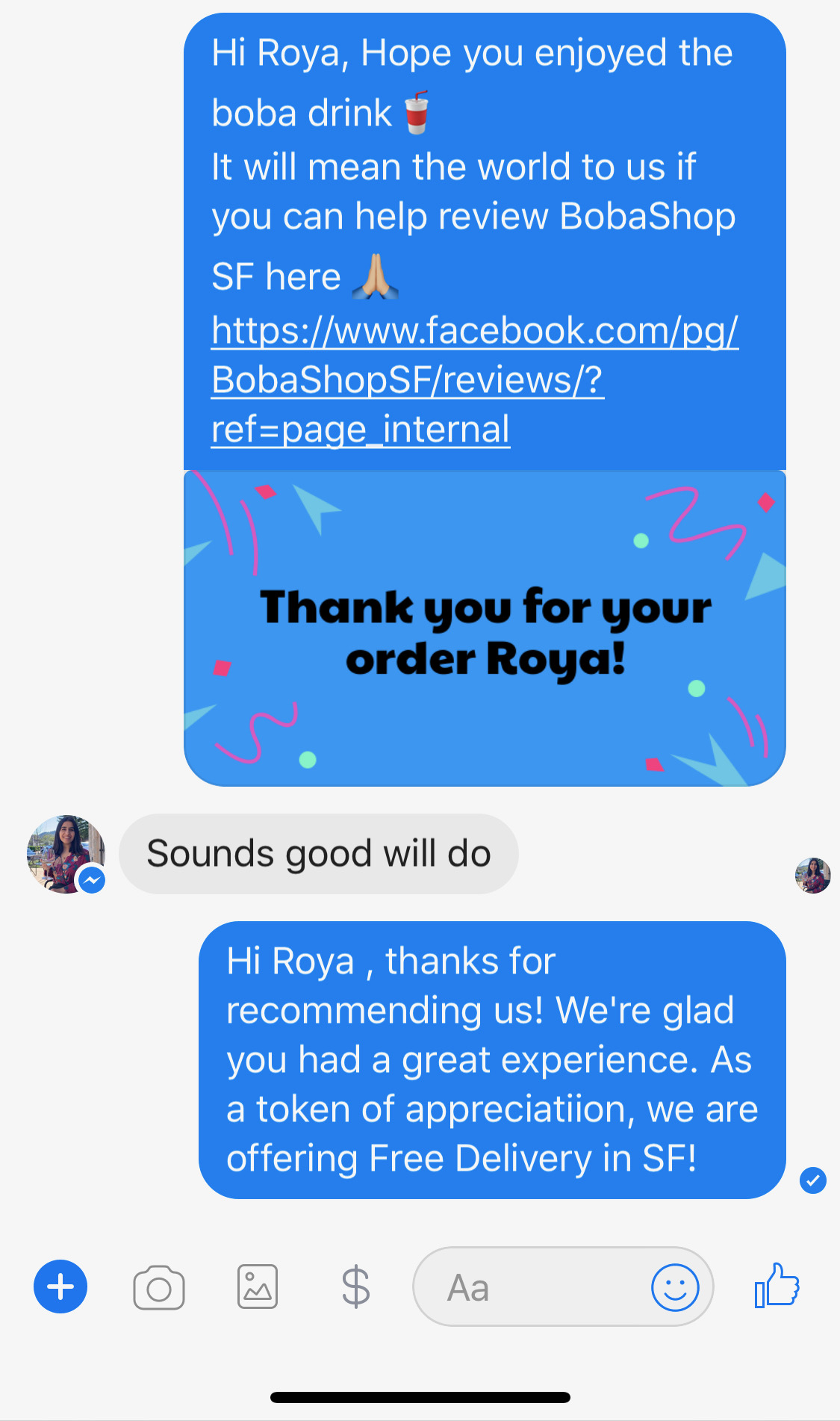 JoyUp Case Study: BobaShop SF Delivery Review