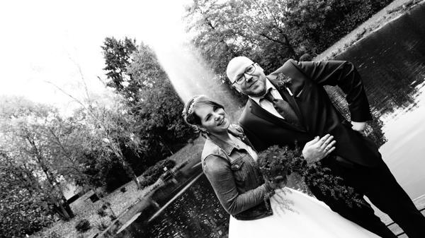 DJ Hochzeit Fotografie Schwarz Weiss