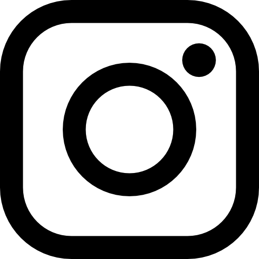 Black Outline Instagram Logo