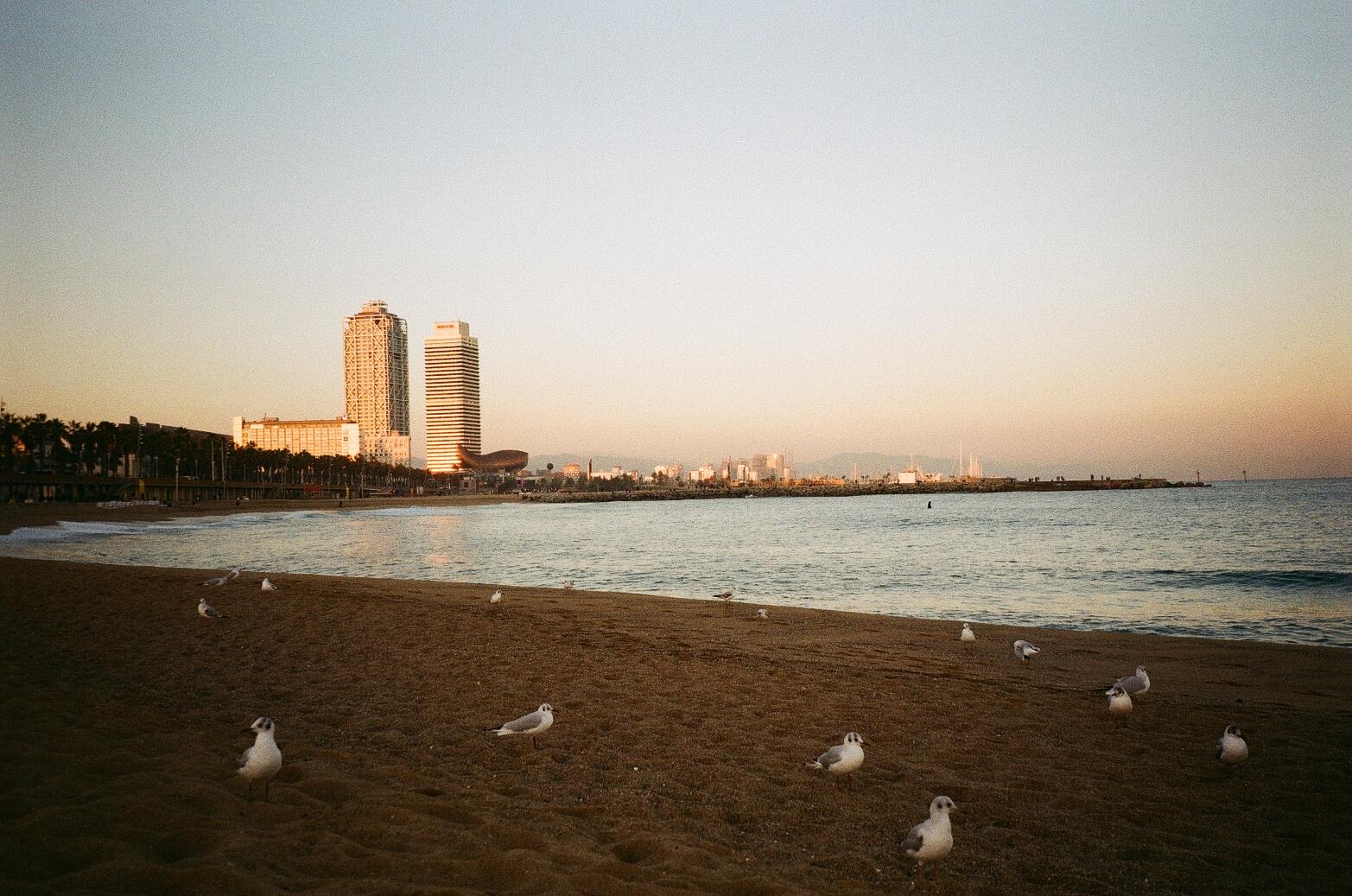 Barceloneta Beach captured on 35mm Film
