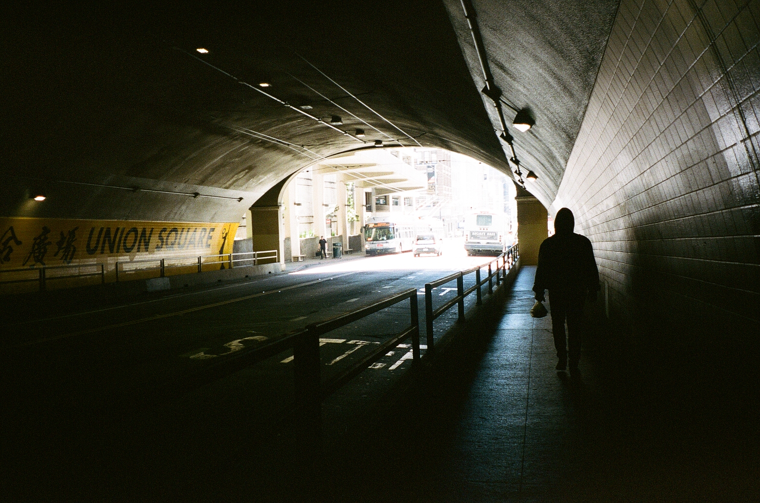 Tunnel near Chinatown in San Francisco film photo
