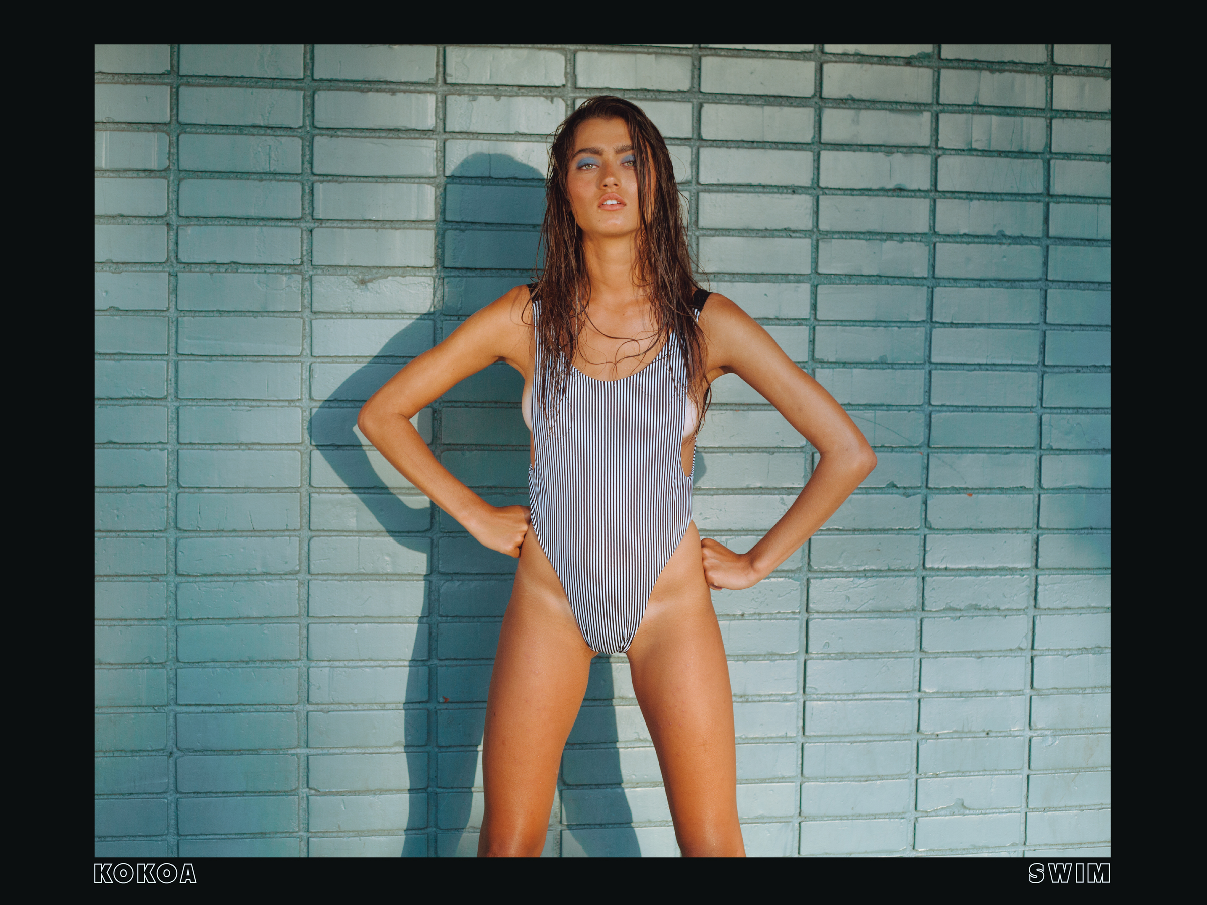 Lookbook design for Kokoa Swim brand, shot in Californina, 2/10