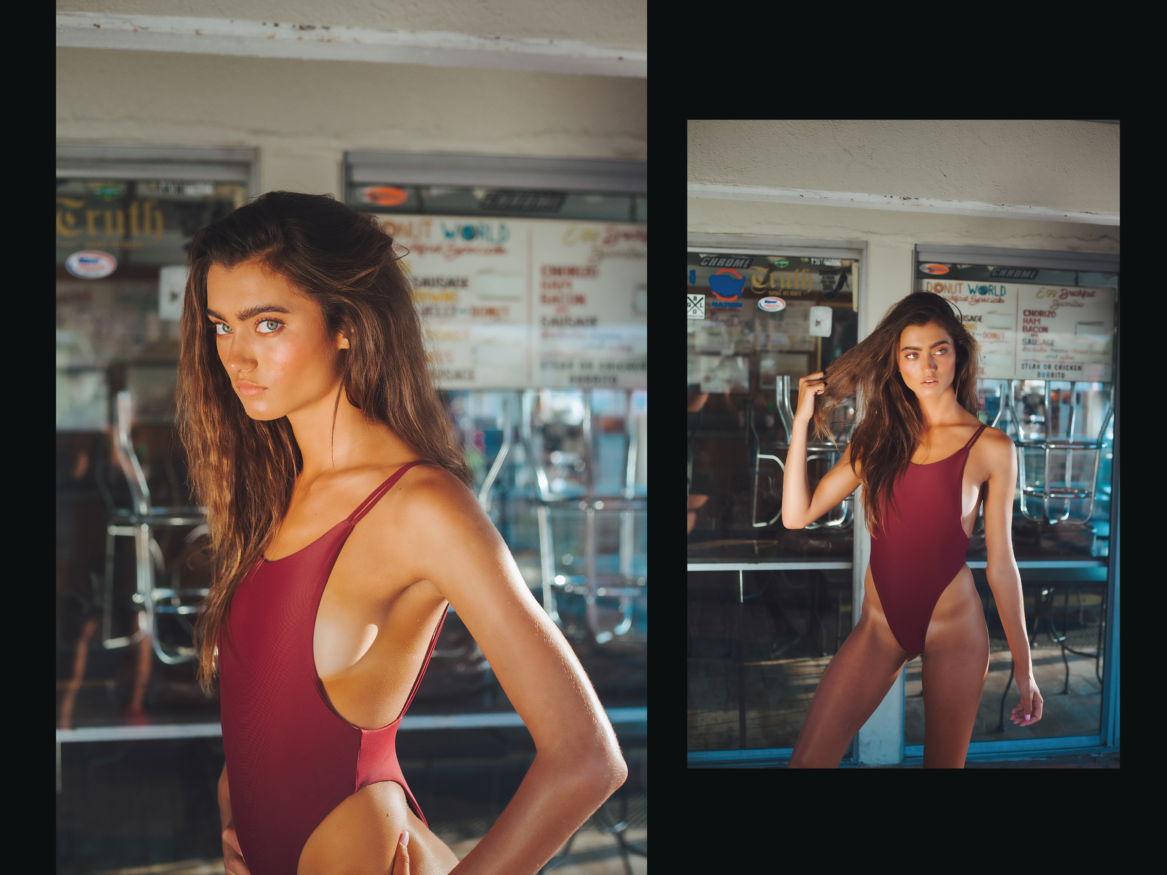 Lookbook design for Kokoa Swim brand, shot in Californina, 5/10
