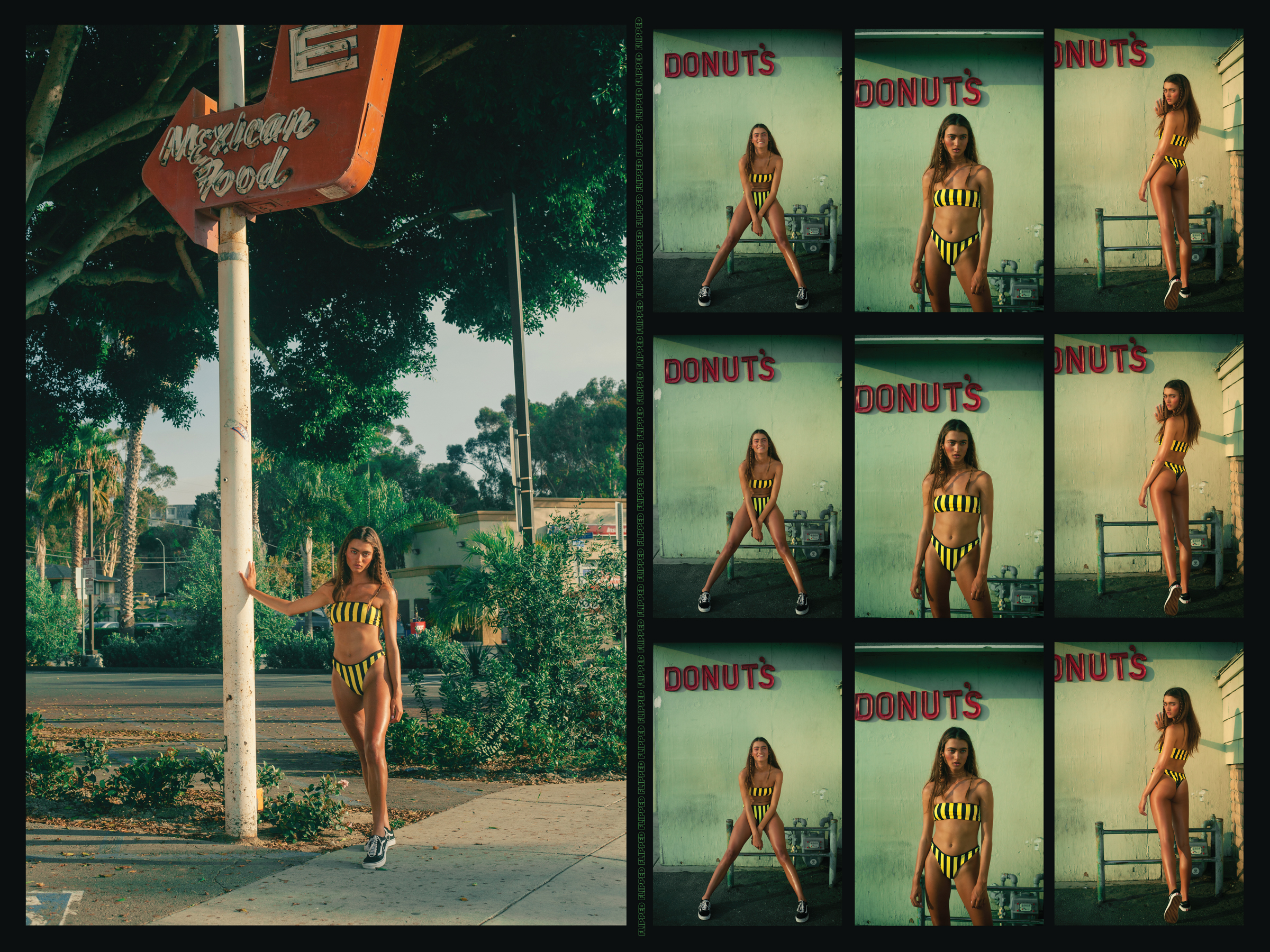 Lookbook design for Kokoa Swim brand, shot in Californina, 7/10