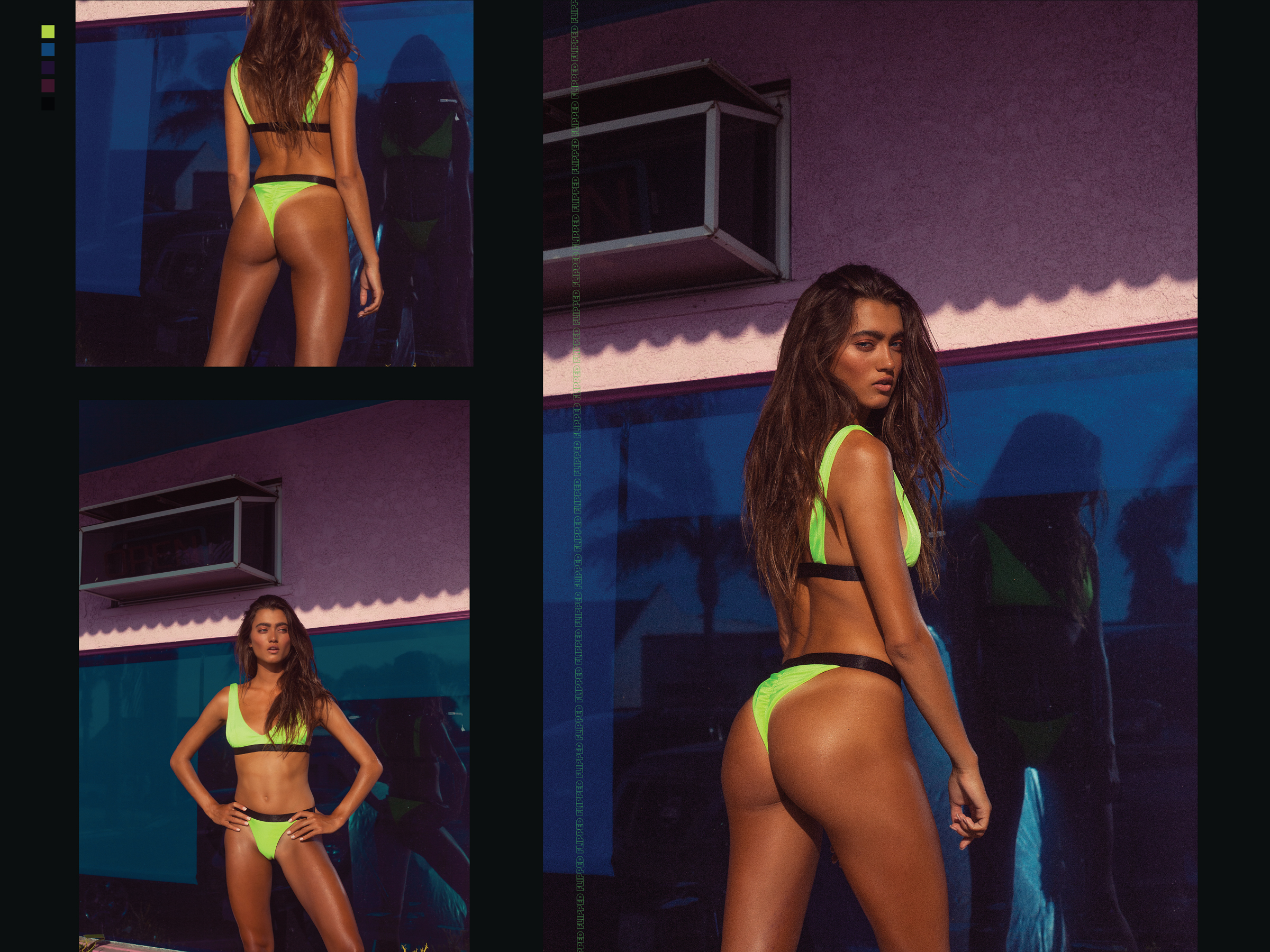 Lookbook design for Kokoa Swim brand, shot in Californina, 10/10