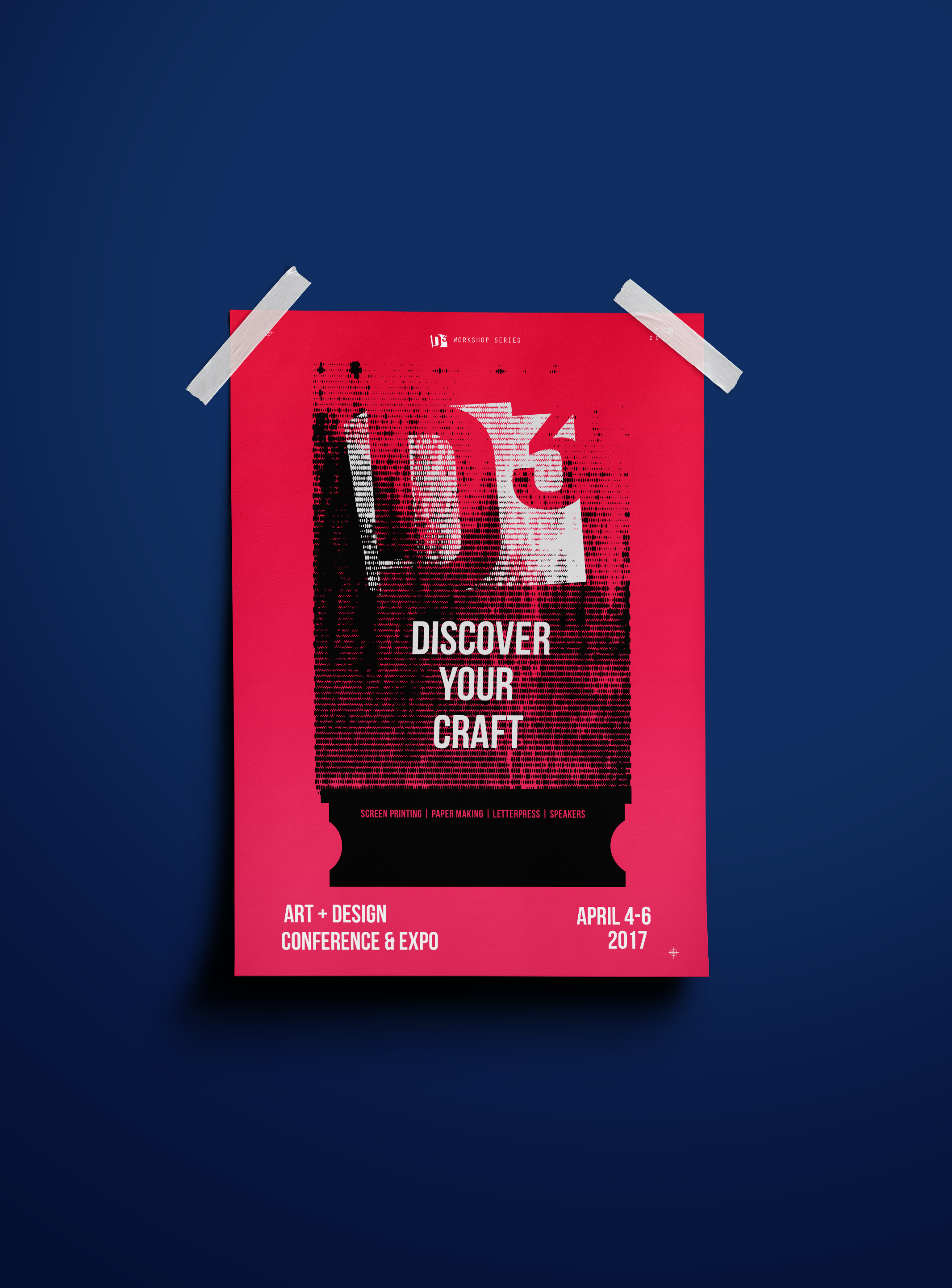 Discover Your Craft Poster Design for D3 Art + Design Conference at Miami-Dade North Campus, 4/4