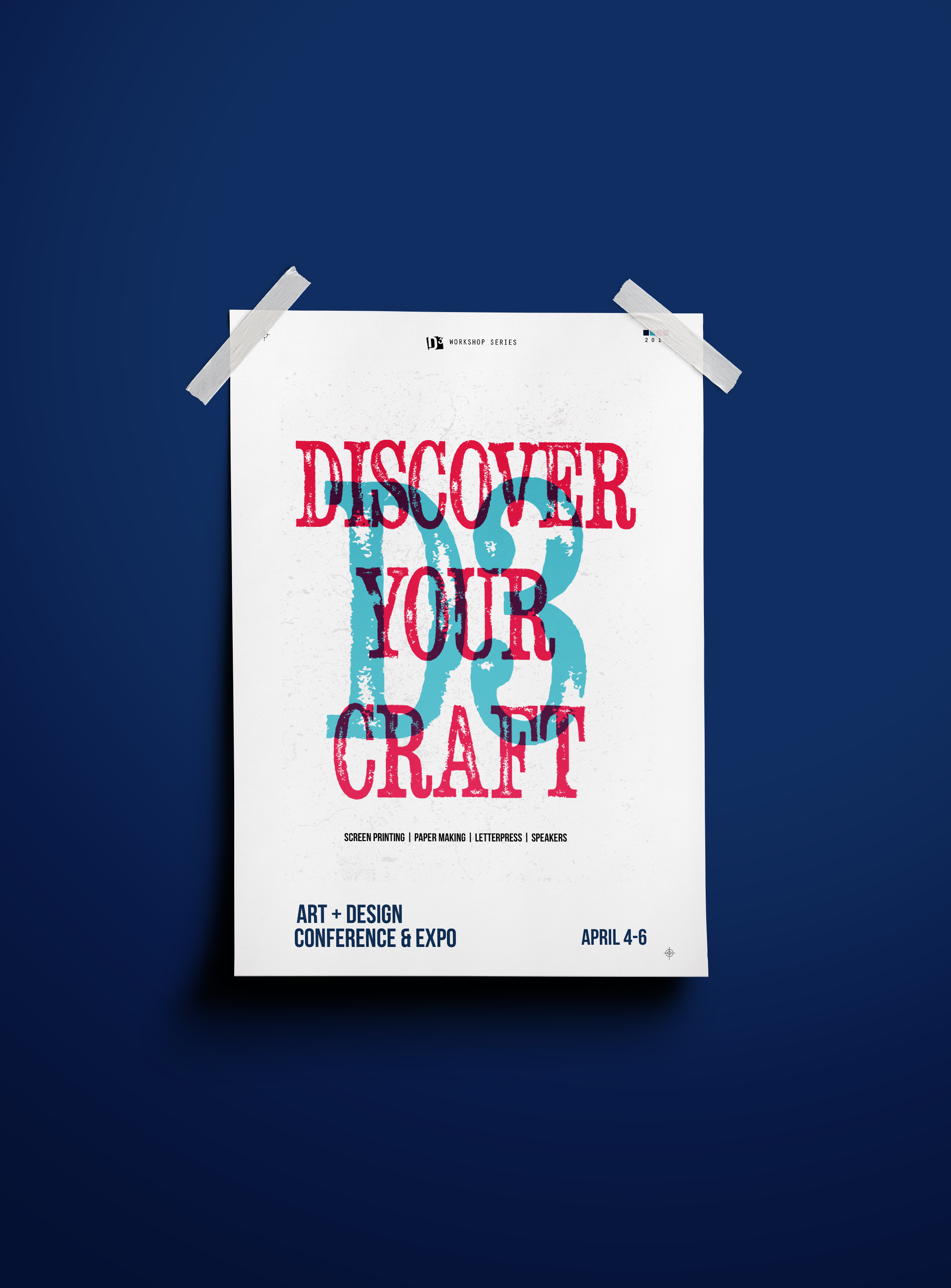 Discover Your Craft Poster Design for D3 Art + Design Conference at Miami-Dade North Campus, 3/4
