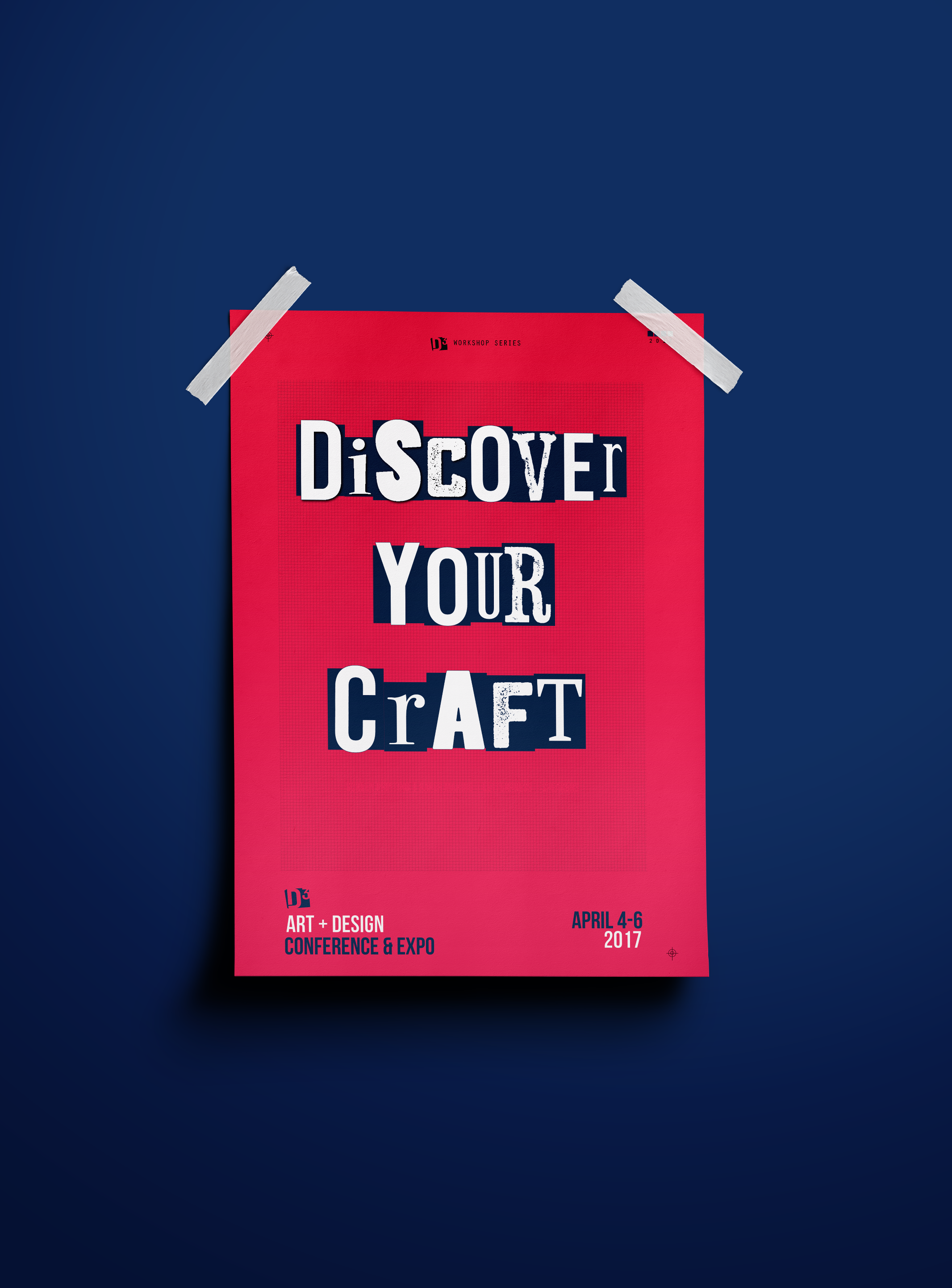 Discover Your Craft Poster Design for D3 Art + Design Conference at Miami-Dade North Campus, 1/4