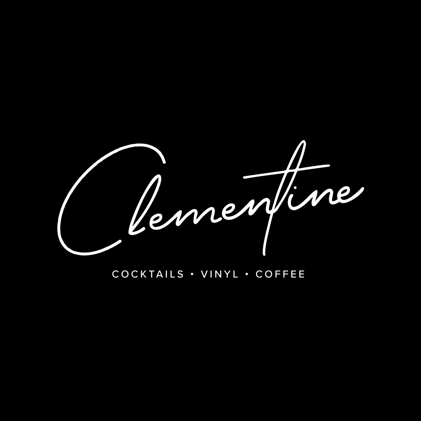 Clementine Script Logo with Black background
