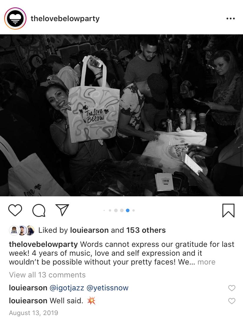 The Love Below 4 year anniversary screenshot of image at Las Rosas