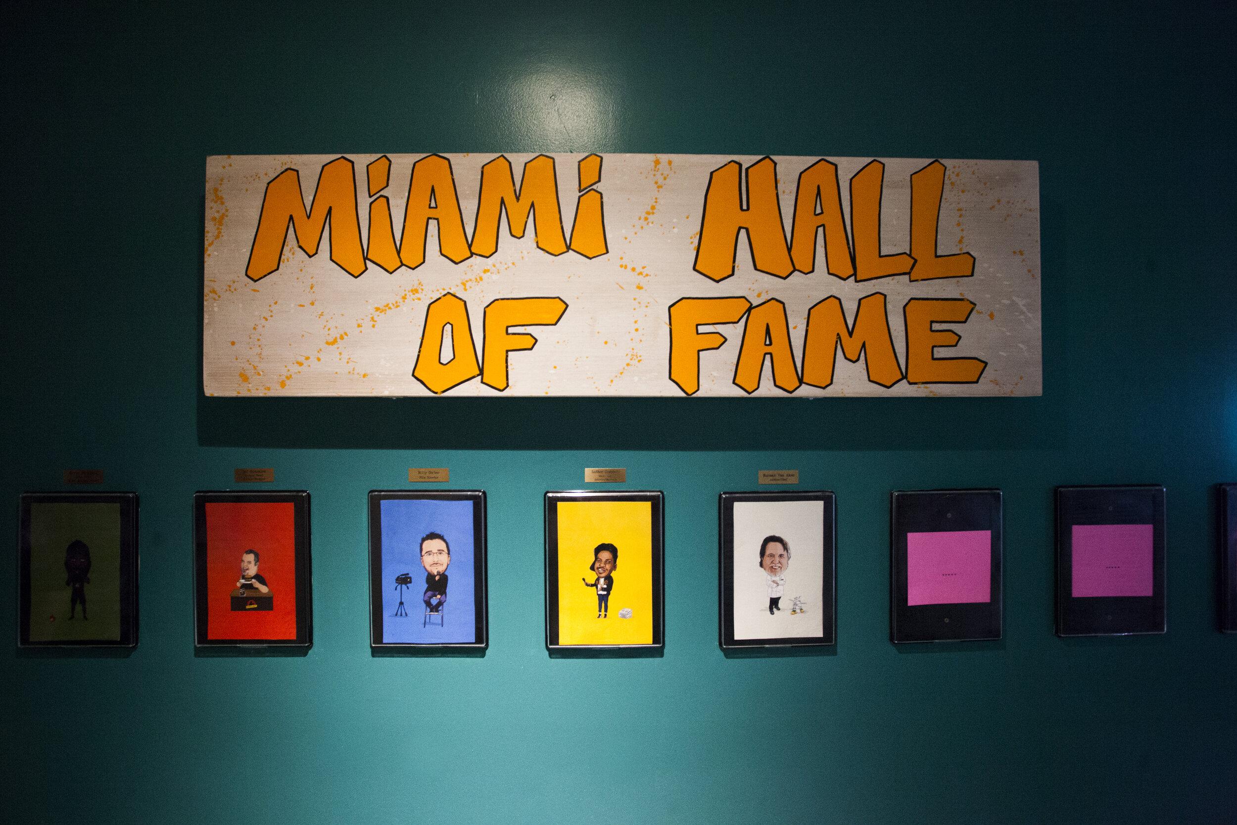 Miami Wall of Fame at Kush Coconut Grove in Miami, Fl