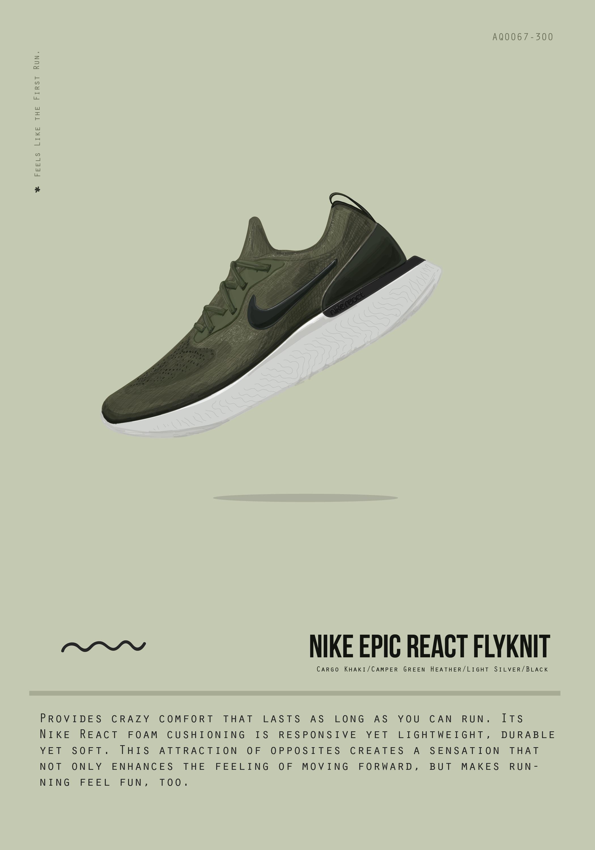 Nike flyknit sneaker illustration