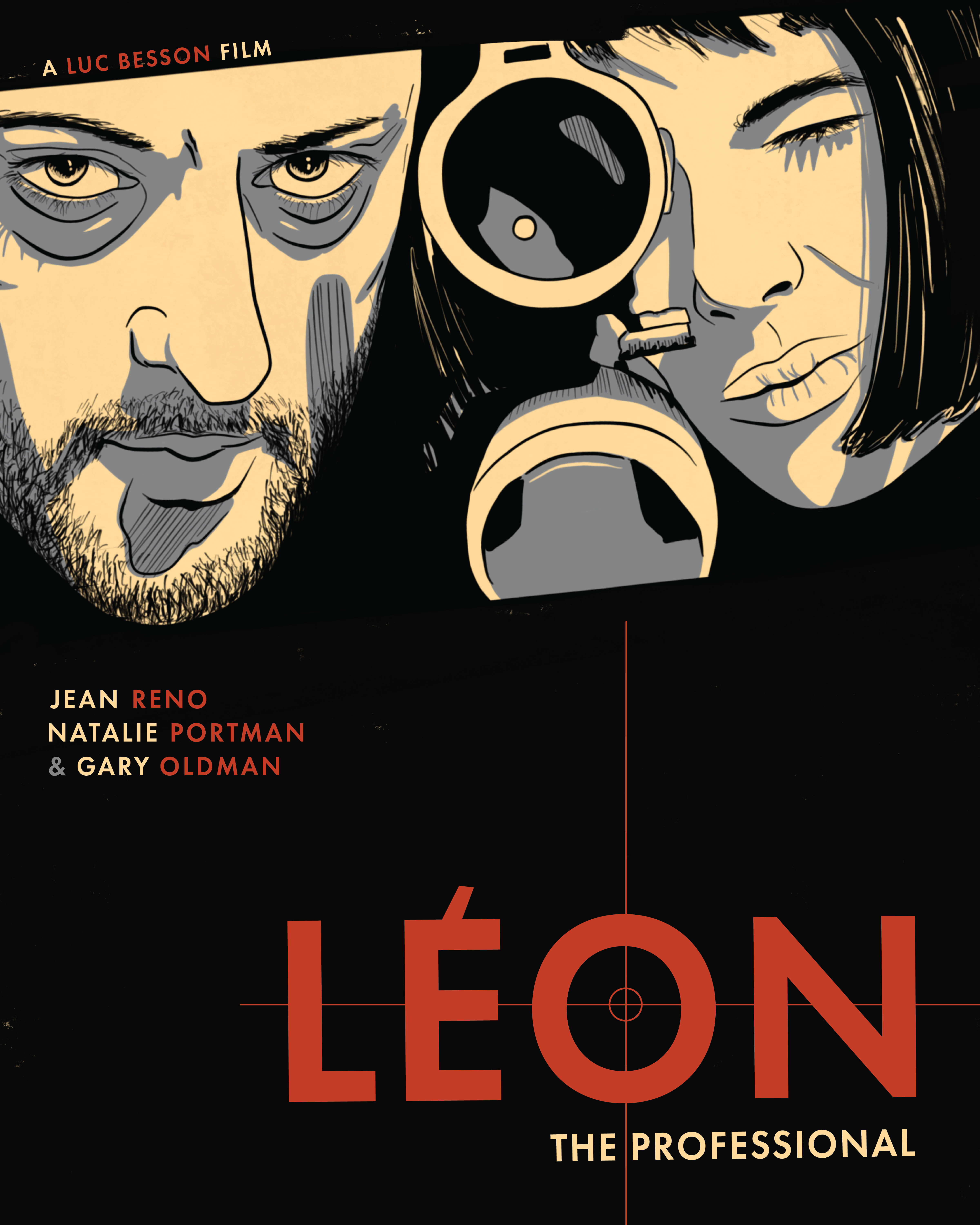 Leon: The Professional Illustrated Movie Poster