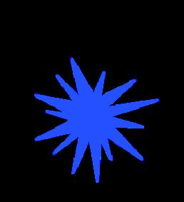 Illustrated blue decoration