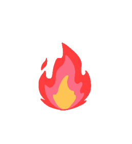Illustrated fire emoji