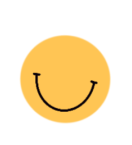 Illustrated smiley face with no eyes