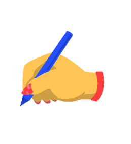 Illustration of a hand drawing