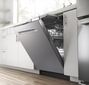 Opened dishwasher
