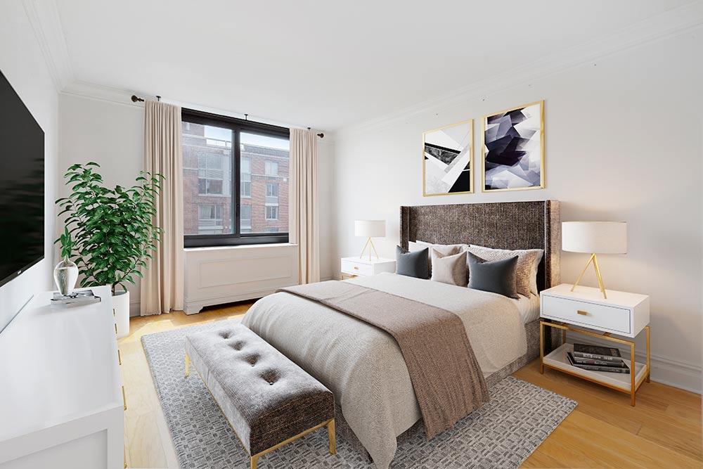 Virtual staged bedroom