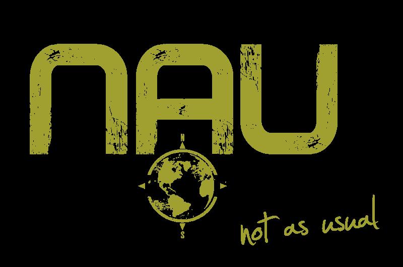 NAU Travel logo in green colors