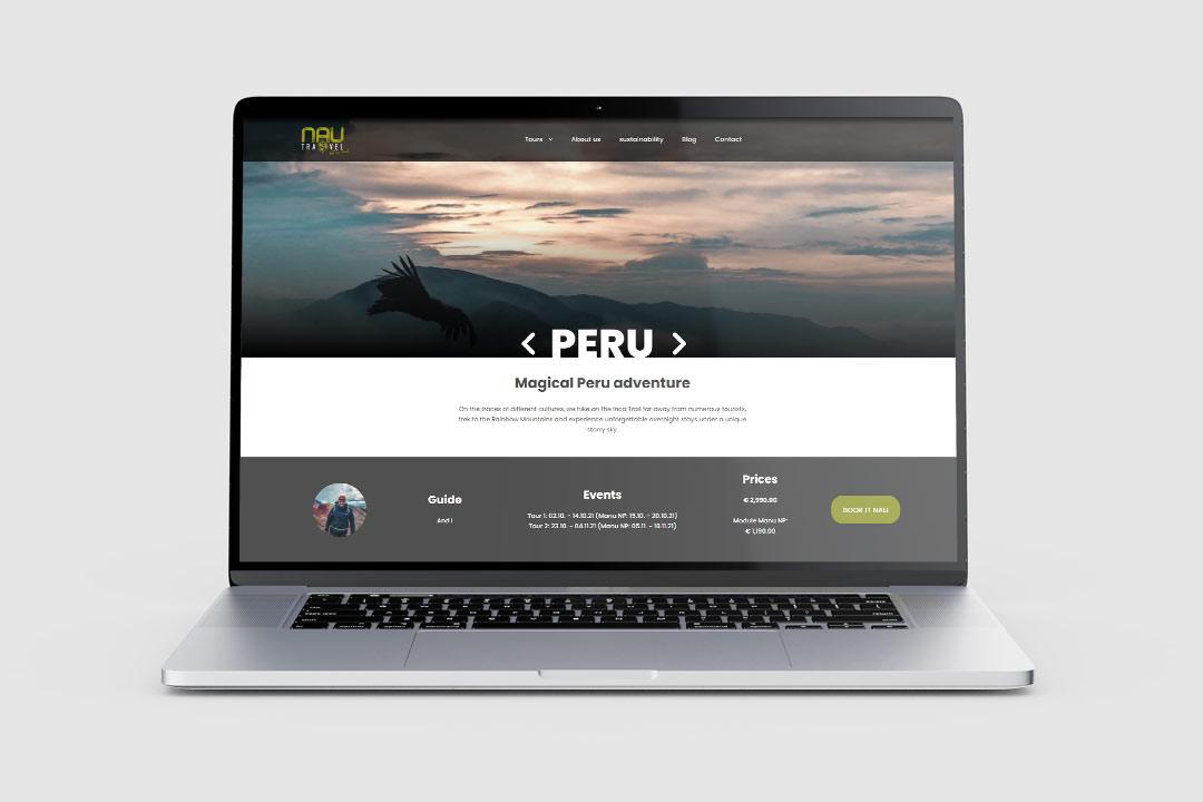 NAU travel website screenshot
