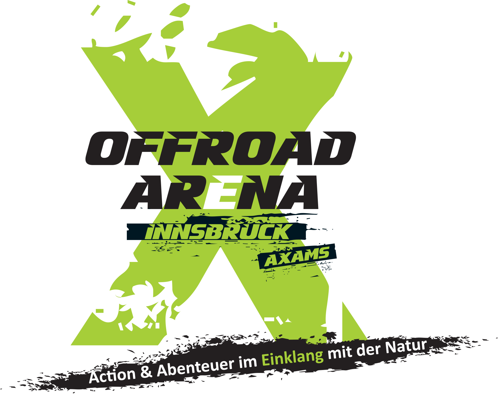 Offroad Arena logo in green and black colors