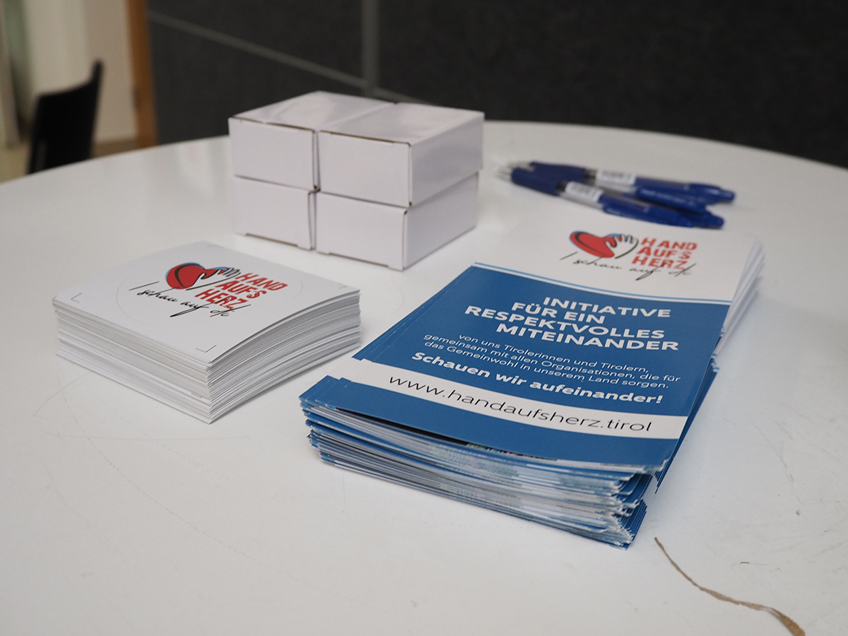 Pile of brochure's on the table