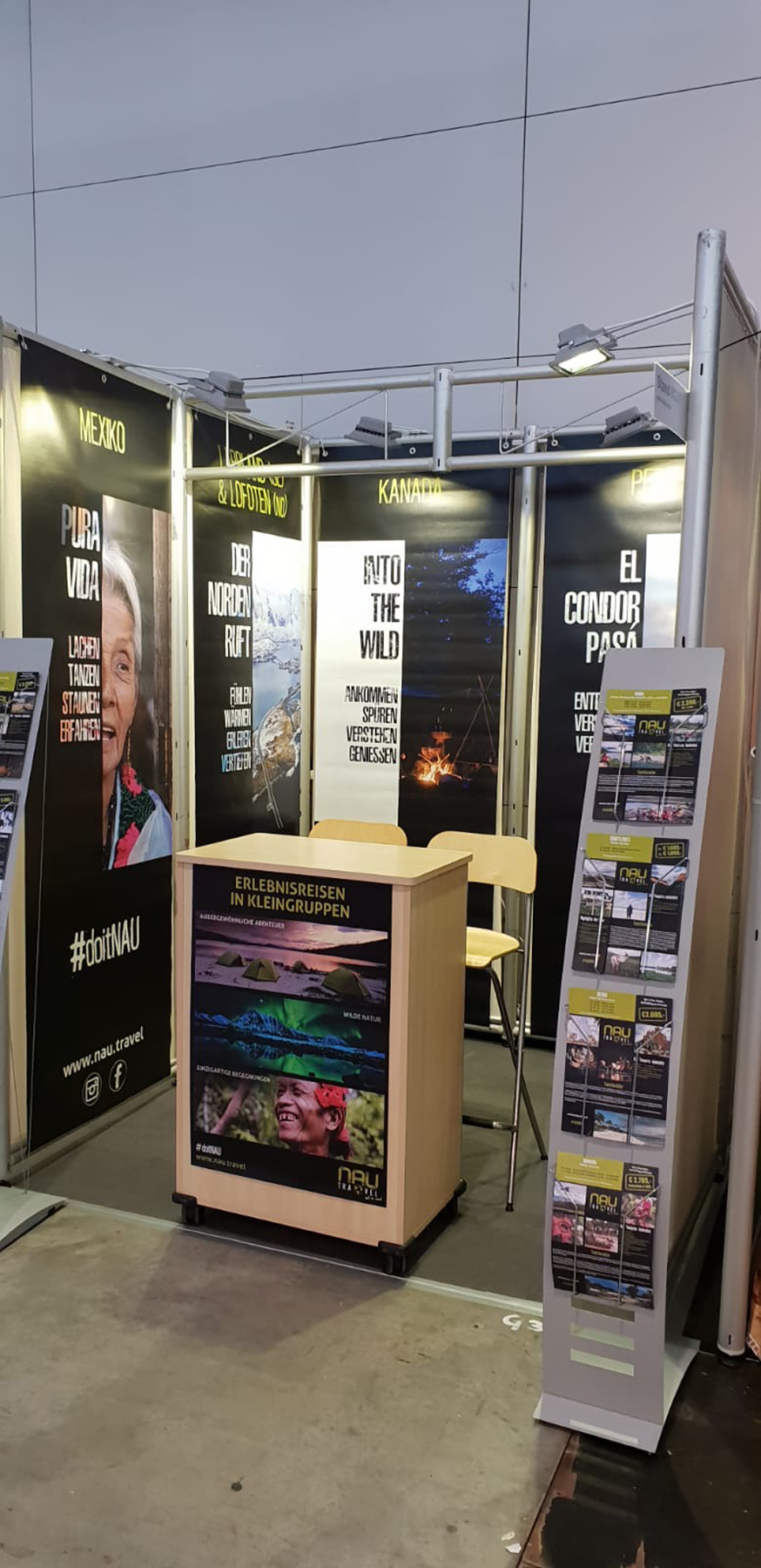 NAU Travel stand on the exhibition
