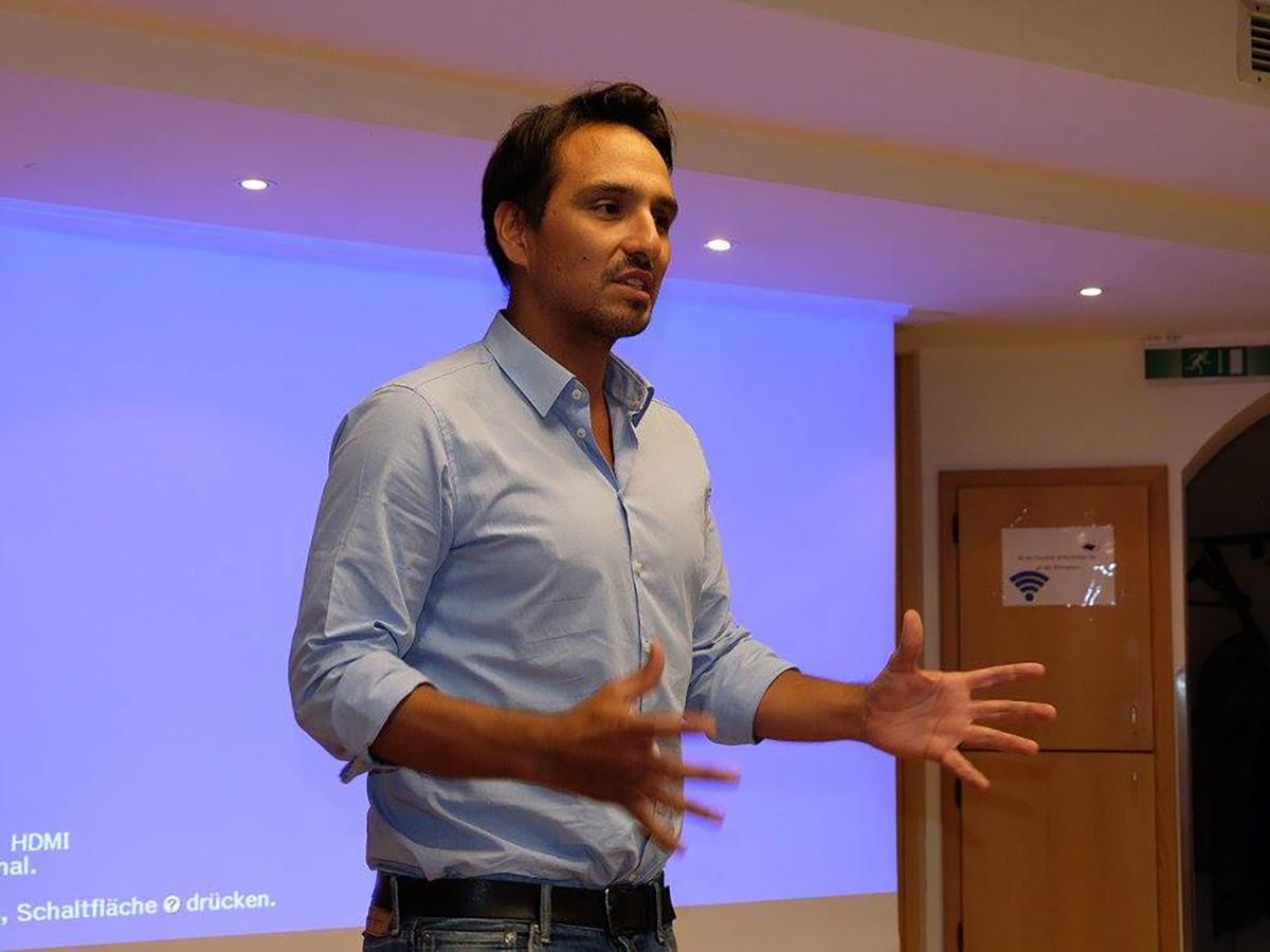 A man making a presentation