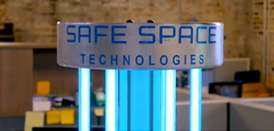 UVC Disinfection Clean Technology Safe Space Technologies UVC Virus-Killing Robot Tackles COVID in Public Spaces