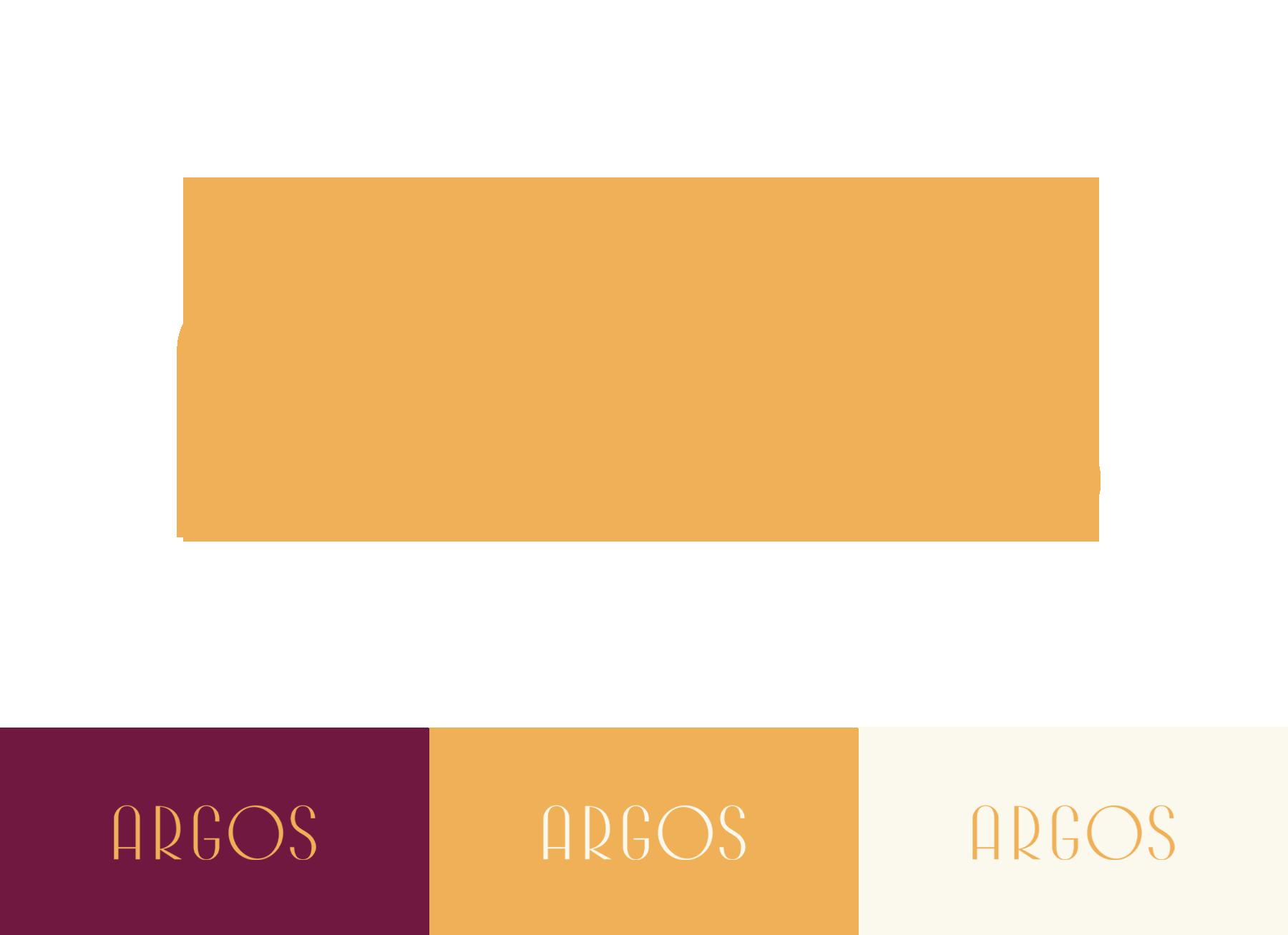 The Art Deco inspired logo for Hotel Argos