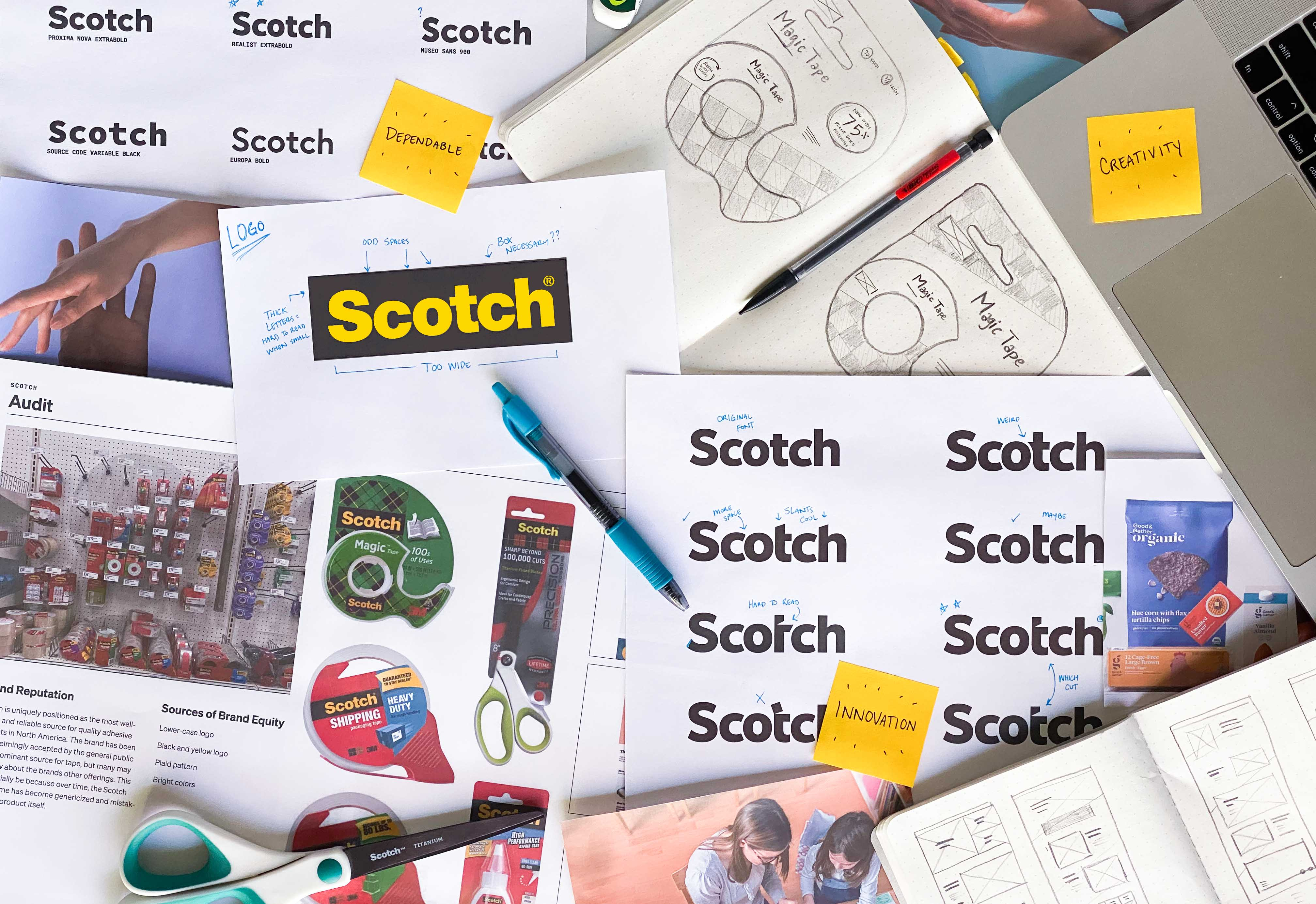 Behind the scenes of the process on the Scotch brand refresh