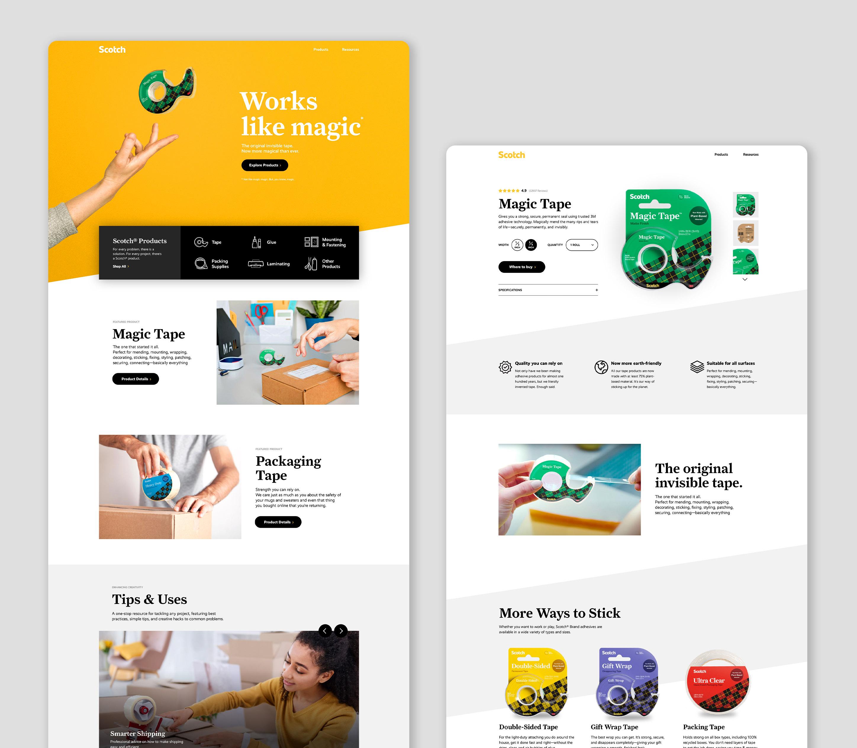 The new website design for Scotch